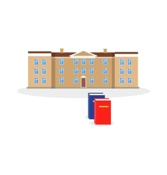 College Building and Book Design Flat vector image