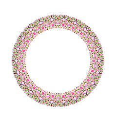 Colorful floral wreath - abstract round design vector