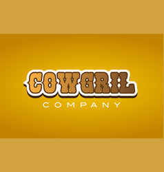 Cowgril cow gril western style word text logo vector