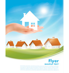 creative template design for real estate hand vector image