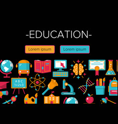 education colorful banner vector image