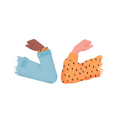 elbow bump greeting isolated for social distancing vector image