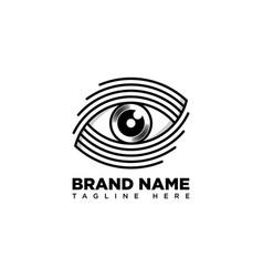 Eye mono line logo design template vector