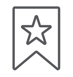 favourites line icon mark and favorite bookmark vector image