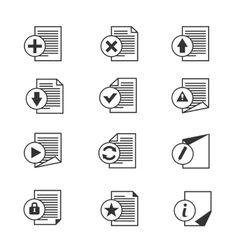 File document icons set vector
