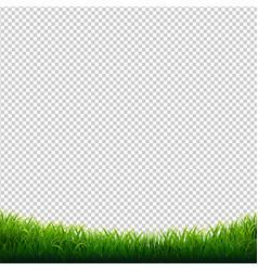 Green grass frame transparent background vector