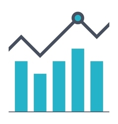 Growth Stock Icon vector
