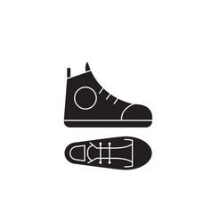 Gumshoes black concept icon gumshoes flat vector