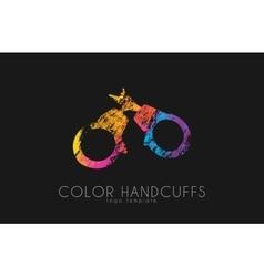 handcuffs logo design color design vector image