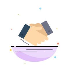handshake hand shake shaking hand agreement vector image