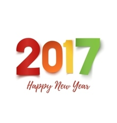 Happy New Year 2017 background template vector image
