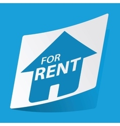 House for rent sticker vector
