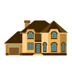 House front view vector