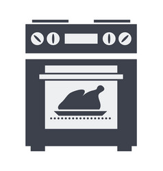 Icon of kitchen electric oven with grilled vector