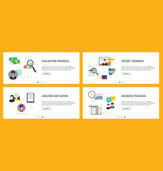 internet banner set evaluation analysis rating vector image