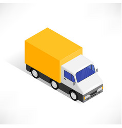 isometric truck icon vector image