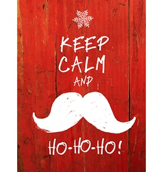 keep calm and hohoho vector image