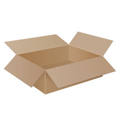 large brown cardboard box vector image