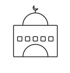 mosque line icon vector image