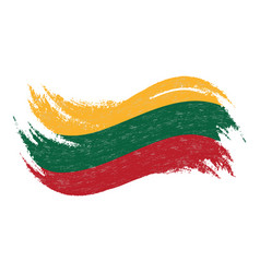 National flag of lithuania designed using brush vector