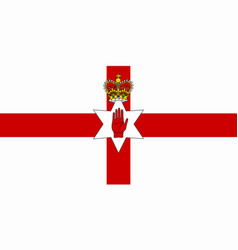 northern ireland flag ulster vector image