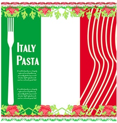 pasta pattern vector image