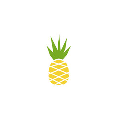 pineapple icon ananas fresh fruit design vector image