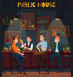 Restaurant pub visitors composition vector