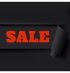 Sale black torn paper background vector image