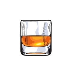 Scotch whiskey rum brandy shot glass vector image