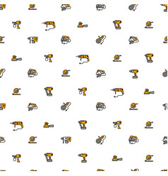 seamless pattern with linear icons of vector image