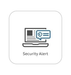 Security Alert Icon Flat Design vector image