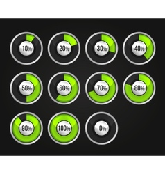 set progress indicator circles vector image