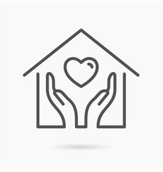 social service line icon on white background vector image