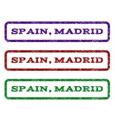 Spain madrid watermark stamp vector