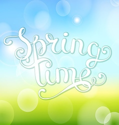 Spring time on bokeh background vector image