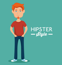 Stylish man icon vector