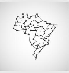 technology image of brazil vector image