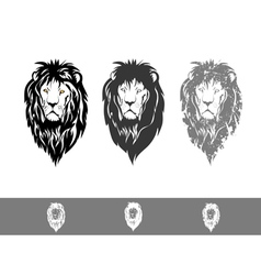 Three Lion Portraits vector image