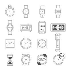 Time Icons Outline vector image