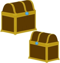 Treasure chest on white background vector image