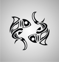 Tribal Pisces vector image