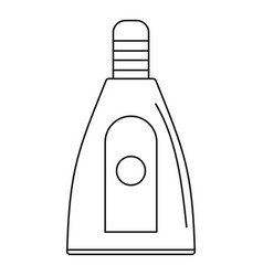 uv bottle icon outline style vector image