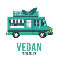 vegan food truck vector image