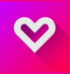 White abstract heart sign vector