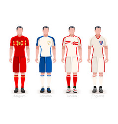 World cup group g jerseys kit vector