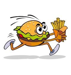 Hamburger with potato vector image vector image