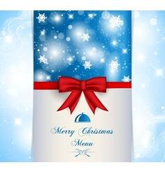Merry Christmas menu vector image vector image