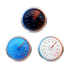 Speedometers set vector image vector image