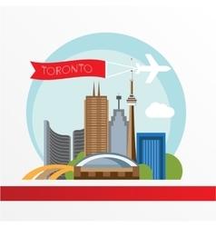 Toronto detailed silhouette Trendy vector image